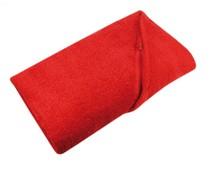Rode badstof Strandlakens (afmeting 100 x 180 cm)