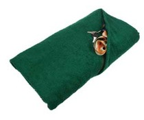 Dark green terry Beach towels (size 100 x 180 cm)