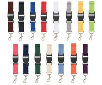 Cheap Lanyards with a carabiner and clip closure (ribbon width 2.5cm)