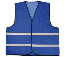 Cheap Blue Safety Vests with reflective stripes (1 adult unisex size)