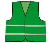 Φτηνές γιλέκα Πράσινο ασφαλείας με ανακλαστικές λωρίδες (1 ενήλικας unisex μέγεθος)