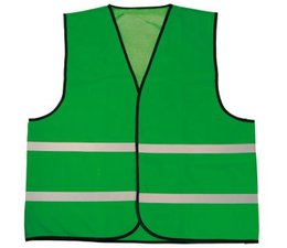 Cheap Green Safety Vests with reflective stripes (1 adult unisex size)