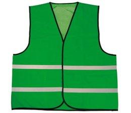 Goedkope groene Veiligheidshesjes met reflecterende strepen (1 volwassen uniseks maat)
