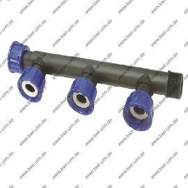 "Gewindefitting PP Multiverteiler 1"" mit O-Ring"