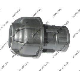 PP Klemmfitting, Verschraubung für PE Rohr 20 - 63 mm, Innengewinde