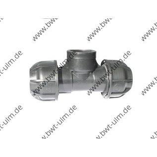 PP Klemmfitting, T-Stück für PE Rohr 20 - 63 mm, mit Innengewinde