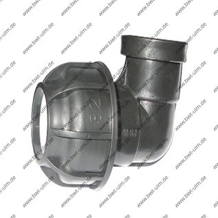 PP Klemmfitting, Winkel 90°, für PE Rohr 20 - 63 mm, Innengewinde