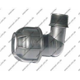 PP Klemmfitting, Winkel 90°, für PE Rohr 20 - 63 mm, Aussengewinde