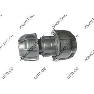 PP Klemmfitting, Kupplungen für PE Rohr 20 - 63 mm, Reduzierung