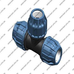PP Klemmfitting, T-Stück, für PE Rohr 16 - 63 mm, DVGW