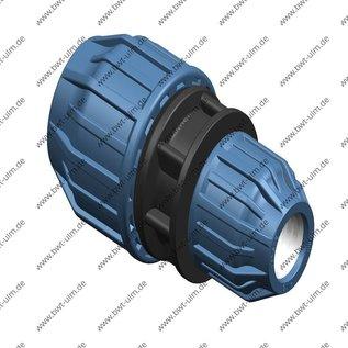 PP Klemmfitting Kupplung, Reduzierung,  DVGW, 16 - 63 mm