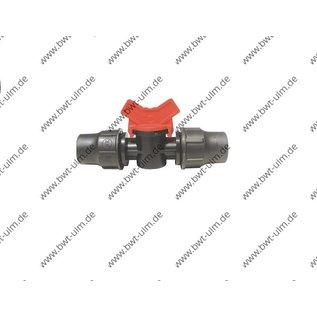Mini Kugelhahn Lock, für PE Rohr PN4, Tropfrohr 16 + 20 mm
