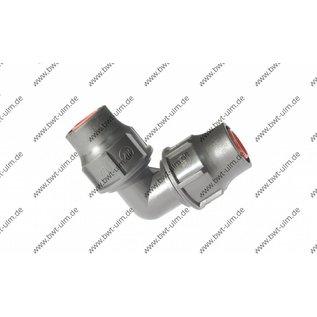 PP Fitting Nutlock, System Lock, PE Rohr PN6, 16 + 20 mm, Winkel Lock x Lock