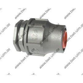 PP Fitting Lock, Endstück, PE Rohr PN6,  Tropfrohr 16 + 20 mm