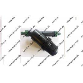 """PE Wasser-/Siebfilter LARGE  3/4"""" od. 1"""" AG, mit Gardena-kompatiblem Hahnstück"""