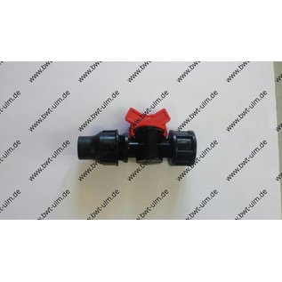 "Mini Kugelhahn Lock, für PE Rohr PN4, Tropfrohr 16 + 20 mm x 3/4"" IG"