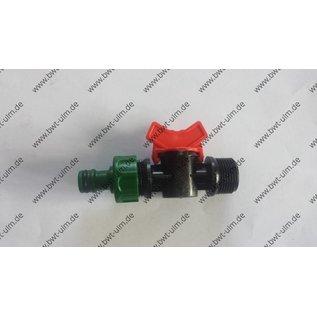 "Mini Kugelhahn 3/4"" + 1"" AG x Gardena-Kompatibel"