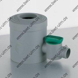INOX Fallrohrfilter INOX grau, mit Absperrhahn