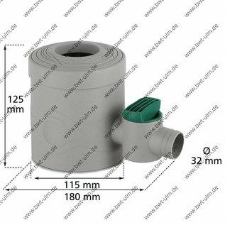 INOX Fallrohrfilter INOX braun, mit Absperrhahn