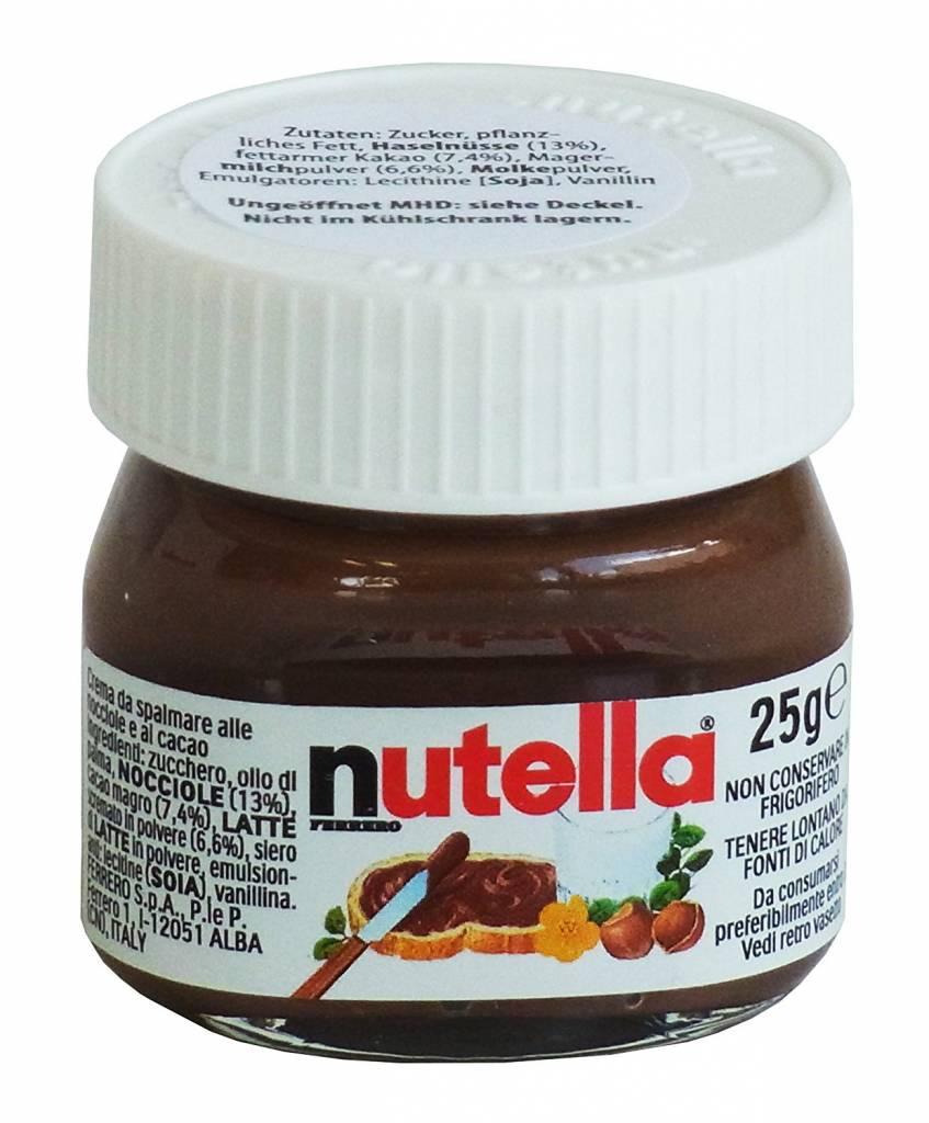 Nutella 25g Mini - Design Glas, 64er Pack (64 x 25g)