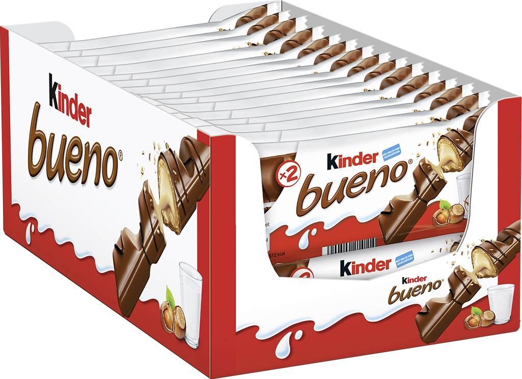 Kinder Bueno Doppelriegel, 30er Pack (30 x Doppelriegel)