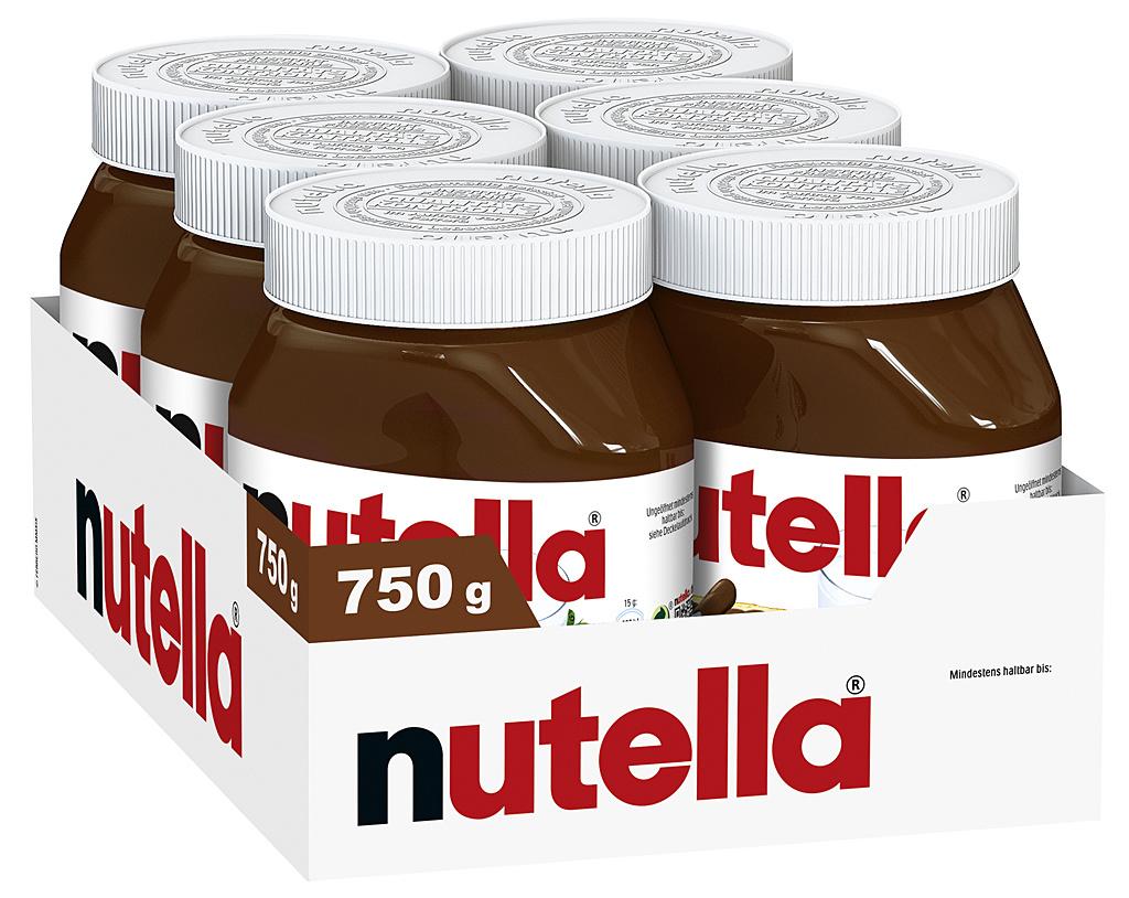 Nutella 6 x 750g Glas