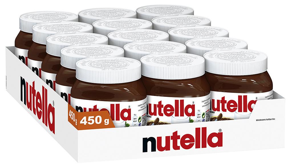 Nutella 15 x 450g Glas