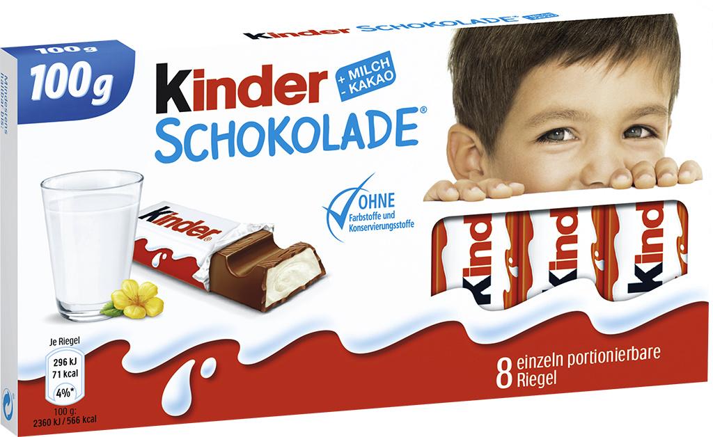 Kinder Schokolade 10 x 100g Tafel