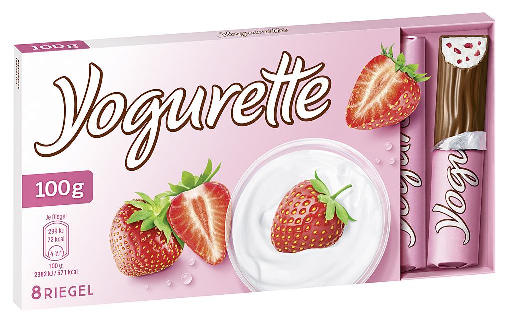 Yogurette Erdbeere 10 x 100g Tafel