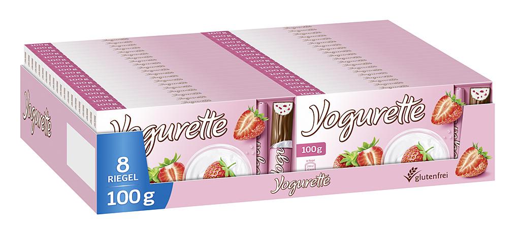 Yogurette Erdbeere 40 x 100g Tafel