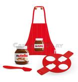 Nutella Baking Box mit Schürze, Silkonform und Nutella 600g Glas, Lieferung in Versandverpackung