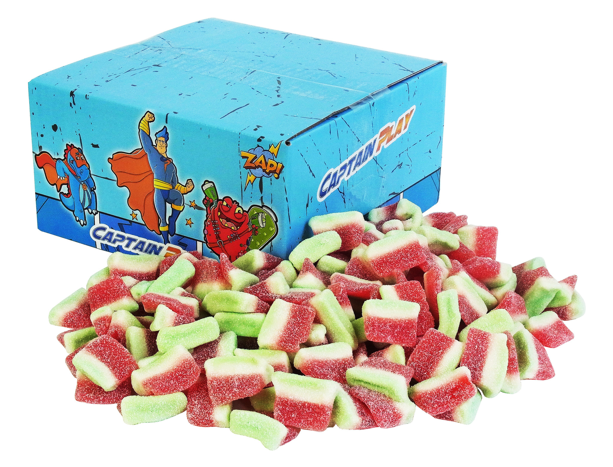 CAPTAIN PLAY saure Wassermelonen Furchtgummi 1kg