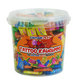 CAPTAIN PLAY Party Box Tattoo Kaugummi, 175g Retro Süßigkeiten