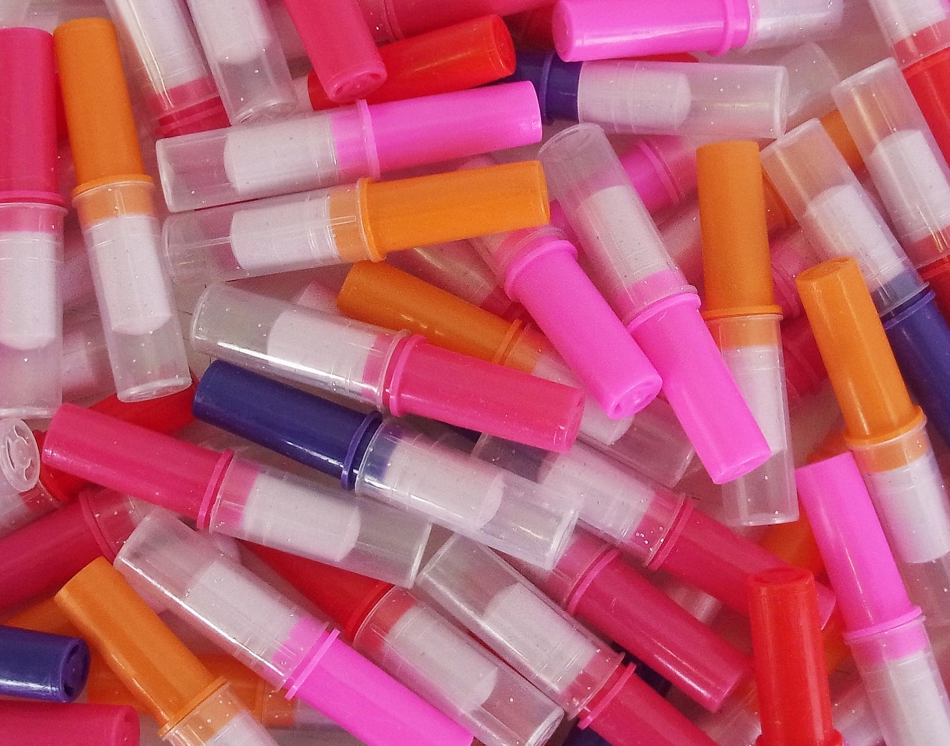 CAPTAIN PLAY Candy Lipstick, 1.000 Stück Süßwaren Lippenstift, Karneval Wurfmaterial, Süßigkeiten Großpackungen