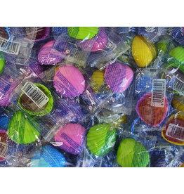 CAPTAIN PLAY Schleckmuscheln einzeln verpackt, 1.000 Stück,  Karneval Wurfmaterial, Süßigkeiten Großpackungen