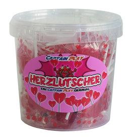 CAPTAIN PLAY Herz Deko, kleine Herzlutscher 350g, Süßigkeiten Hochzeit, Geschenk Valentinstag