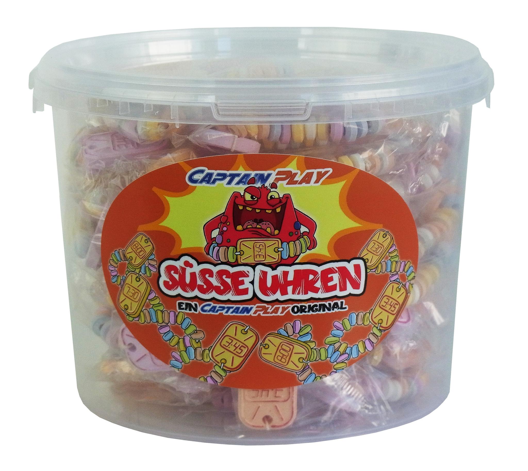 CAPTAIN PLAY Candy Box mit 50 Süße Uhren in Einzelverpackung