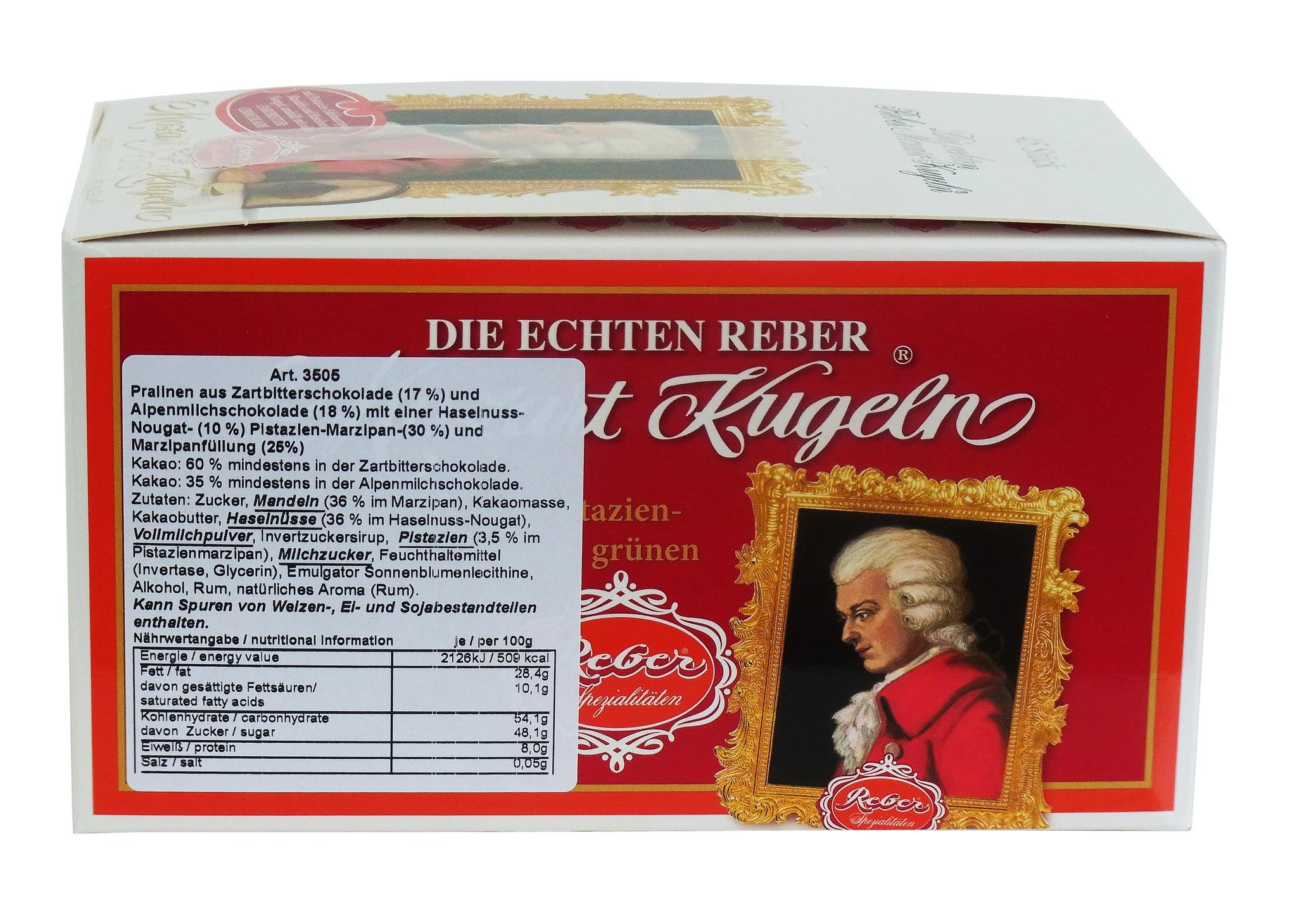 Original Reber Mozart-Kugeln 45 Stück, 900g