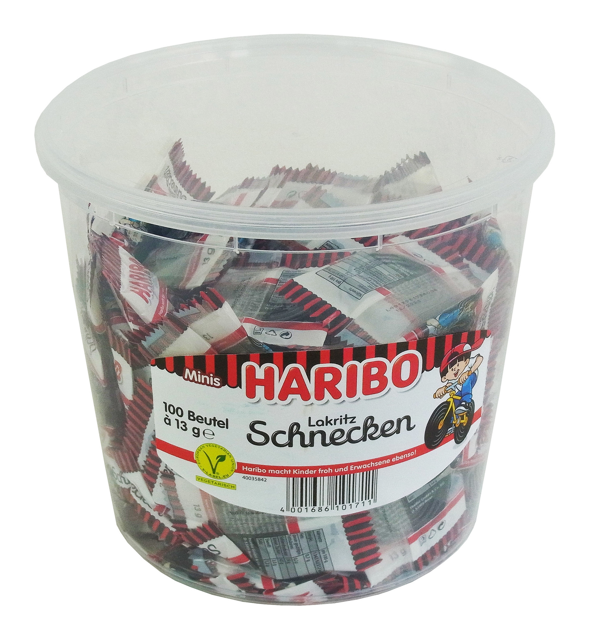 Haribo Lakritz Schnecken 100 x 13g in Einzelverpackung