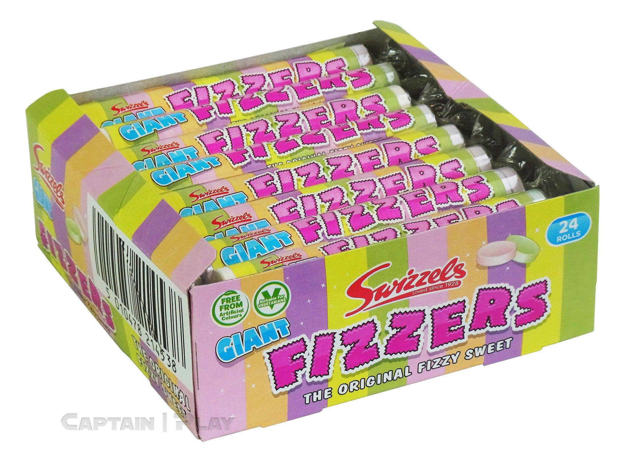 Swizzels Giant Fizzers Rollen 24 x 40g