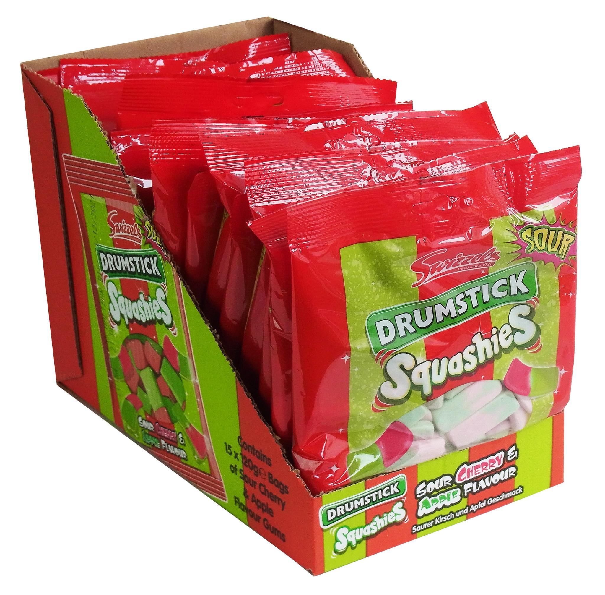 Swizzels Drumstick Squashies Sour Cherry & Apple 15 x 120g