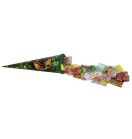 Schultüte Dinos 35cm gefüllt mit Süßigkeiten