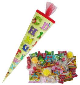 Schultüte ABC 35cm gefüllt mit Süßigkeiten