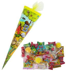 Schultüte Tierwelt 35cm gefüllt mit Süßigkeiten
