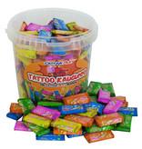 CAPTAIN PLAY Party Box Tattoo Kaugummi, 475g Retro Süßigkeiten