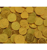 CAPTAIN PLAY Goldmünzen Kindergeburtstag Sckokolade, 700g Goldmünzen Schokolade im Party Bucket