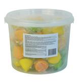 CAPTAIN PLAY Party Bucket mit 50 Fluffy Marshmallows in Einzelverpackung, Süßigkeiten Kindergeburtstag