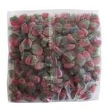 CAPTAIN PLAY Fruchtgummi vegan, saure Erdbeeren, Fruchtgummi ohne Gelatine, 2kg