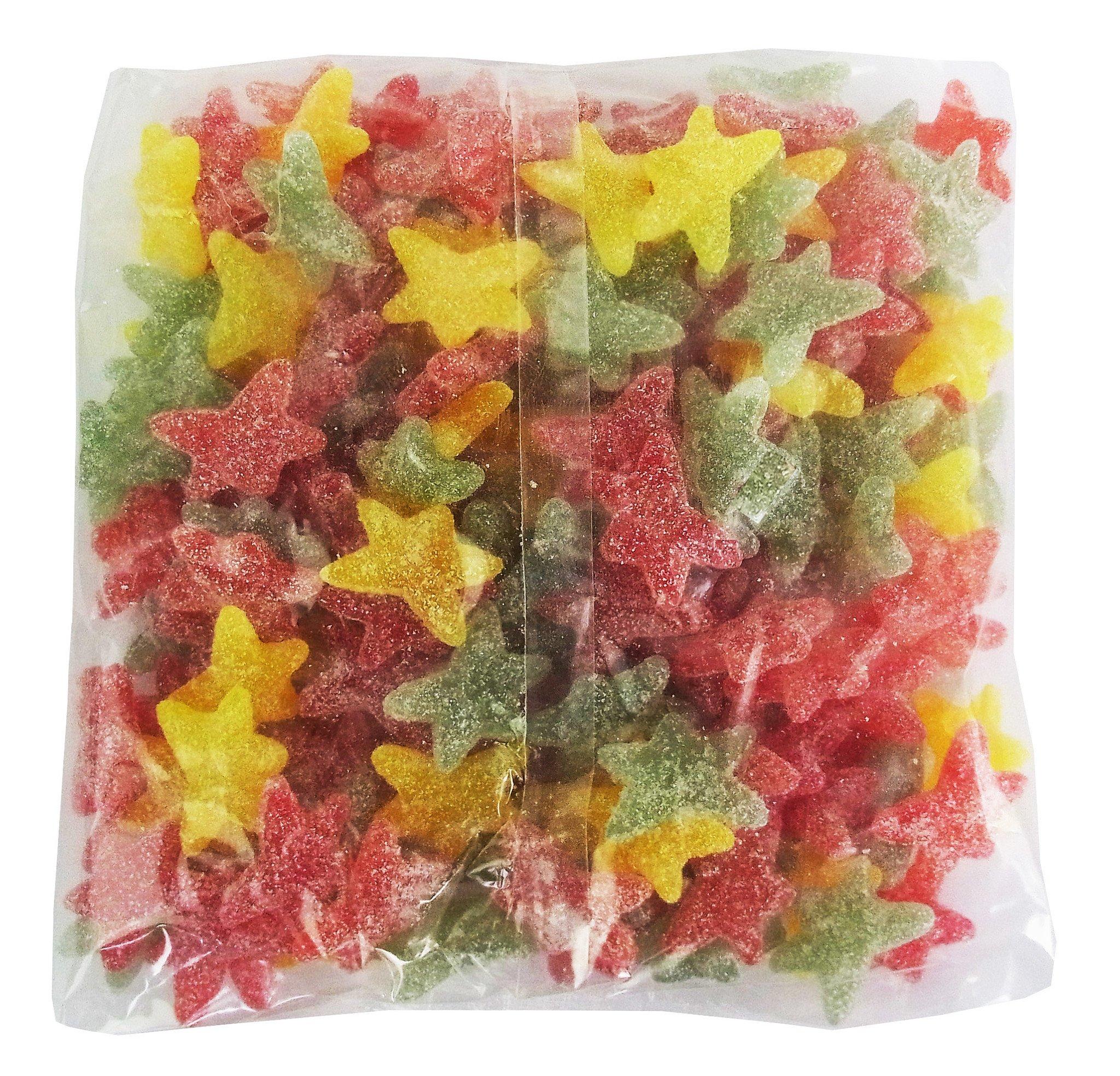 CAPTAIN PLAY Fruchtgummi ohne gelatine, Saure Sternchen, Fruchtgummi Großpackung, 2kg