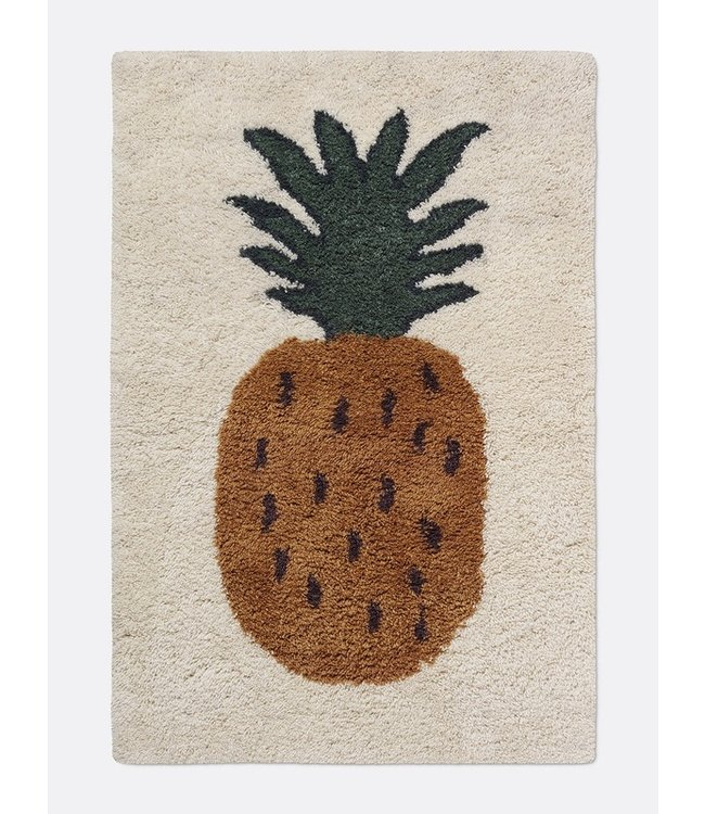Ferm Living Fruiticana Pineapple Rug